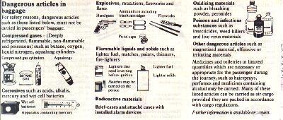 objets acceptés en cabine avion